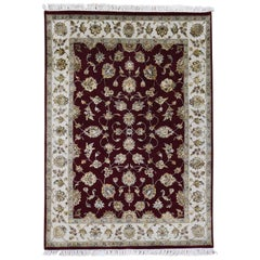 Wool and Silk Rajasthan Hand Knotted Oriental Rug