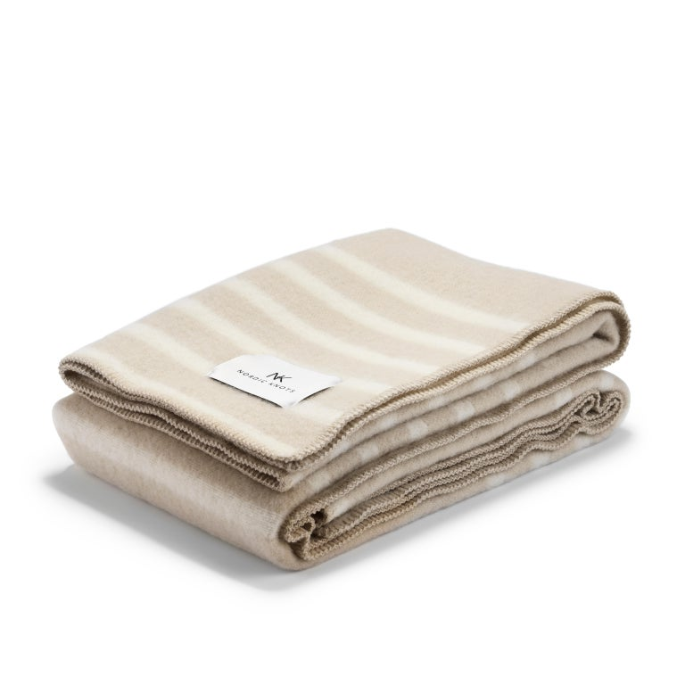 Modern Wool Blanket Classic, Sand For Sale