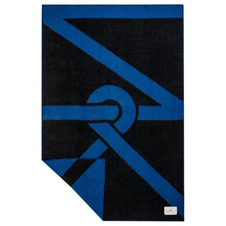 Wool Blanket NK, Ultramarine For Sale