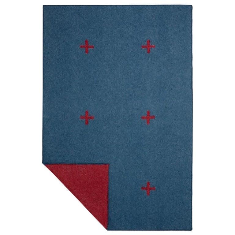 Wool Blanket Plus, Blue For Sale