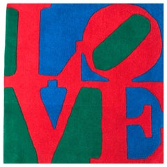 "Wool Carpet ""Love"" by Robert Indiana"