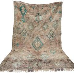 Wool Moroccan Berber Rug, Tribal Rug, Late 1970s