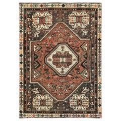 Wool Persian Shiraz Vintage Distressed Shabby Chic Handmade Rug