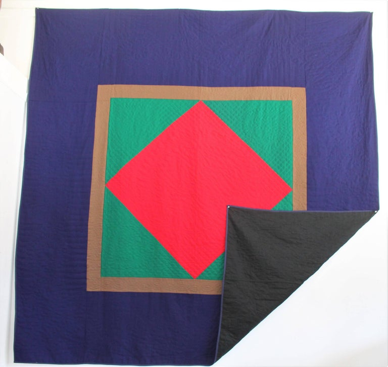 Wool Quilt Diamond in a Square / Lancaster County, Pennsylvania For Sale 4