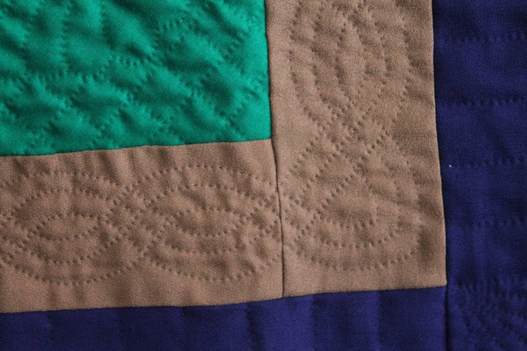 Hand-Crafted Wool Quilt Diamond in a Square / Lancaster County, Pennsylvania For Sale