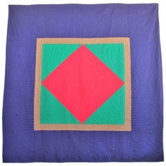 Wool Quilt Diamond in a Square / Lancaster County, Pennsylvania