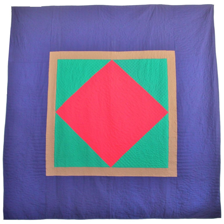 Wool Quilt Diamond in a Square / Lancaster County, Pennsylvania For Sale