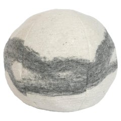 Wool Snowball Frosted Grey Pillow