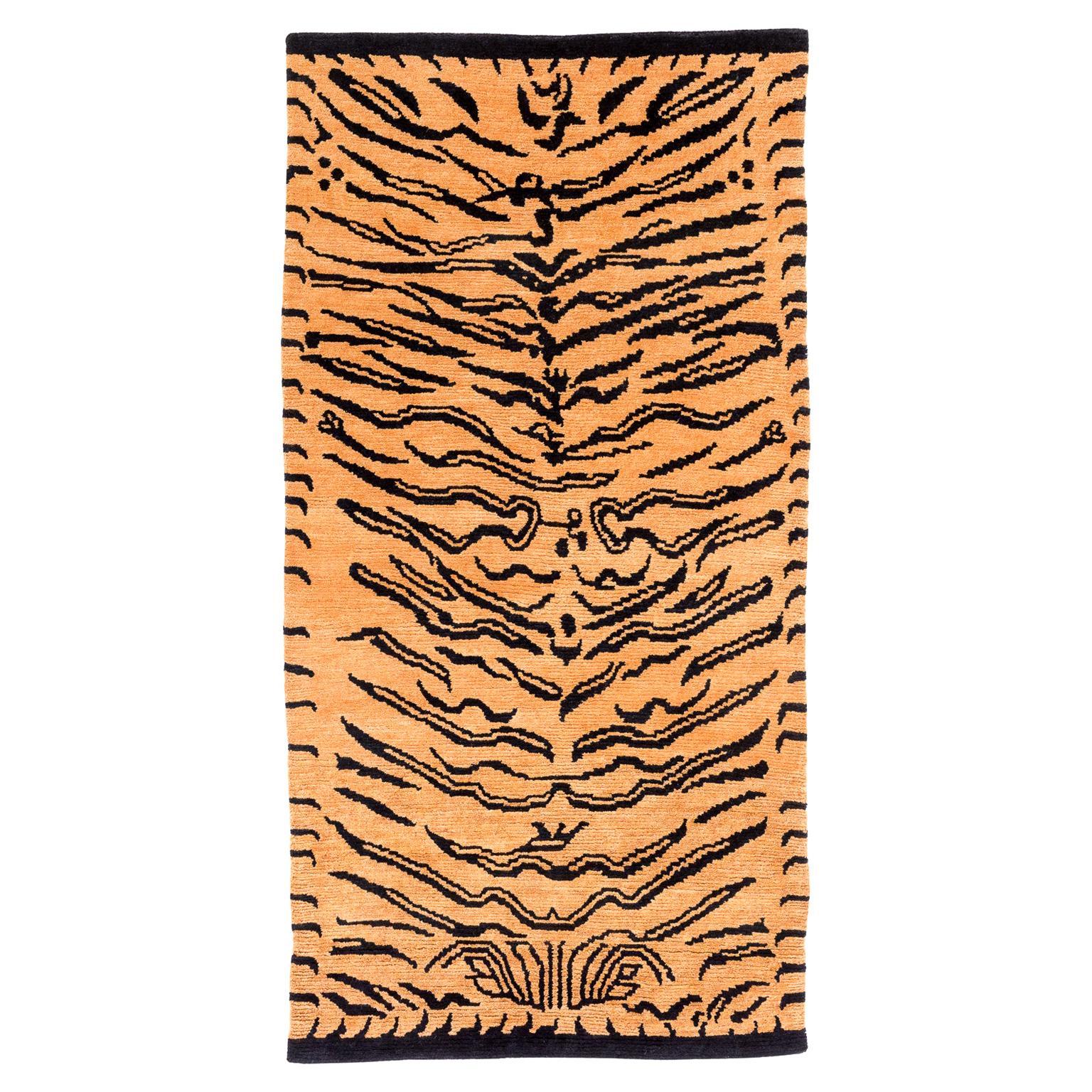 Wool Tibetan Tiger Rug by Carini