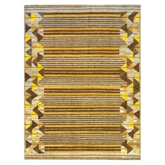 Wool with Silk Accents Swedish Inspired Handwoven Rug
