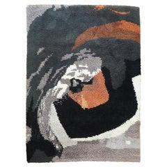 Woolen Rug by Pierre Lebe, France, 1975