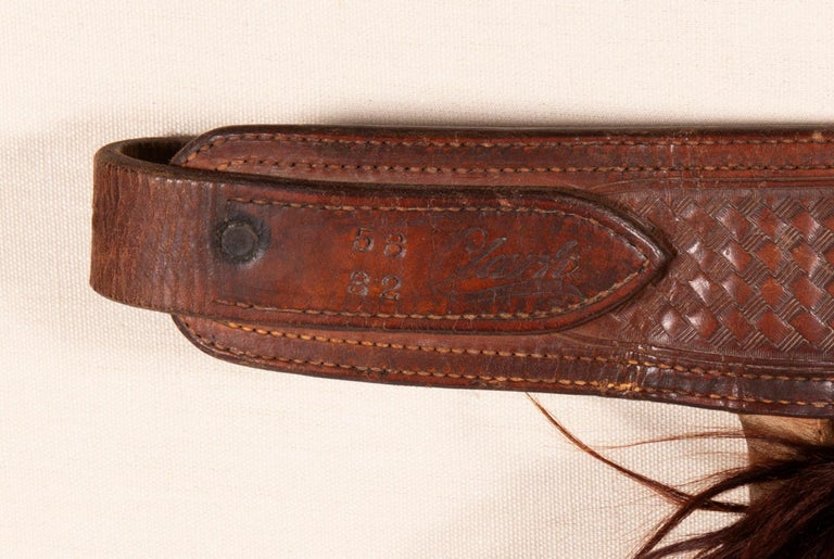 19th Century Wooly, Angora Chaps Made by John Clark Saddlery, Portland, Or, CA 1873-1929 For Sale