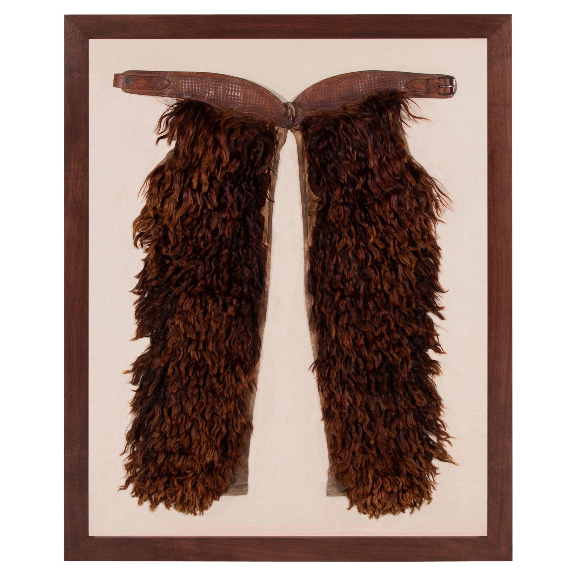Wooly, Angora Chaps Made by John Clark Saddlery, Portland, Or, CA 1873-1929