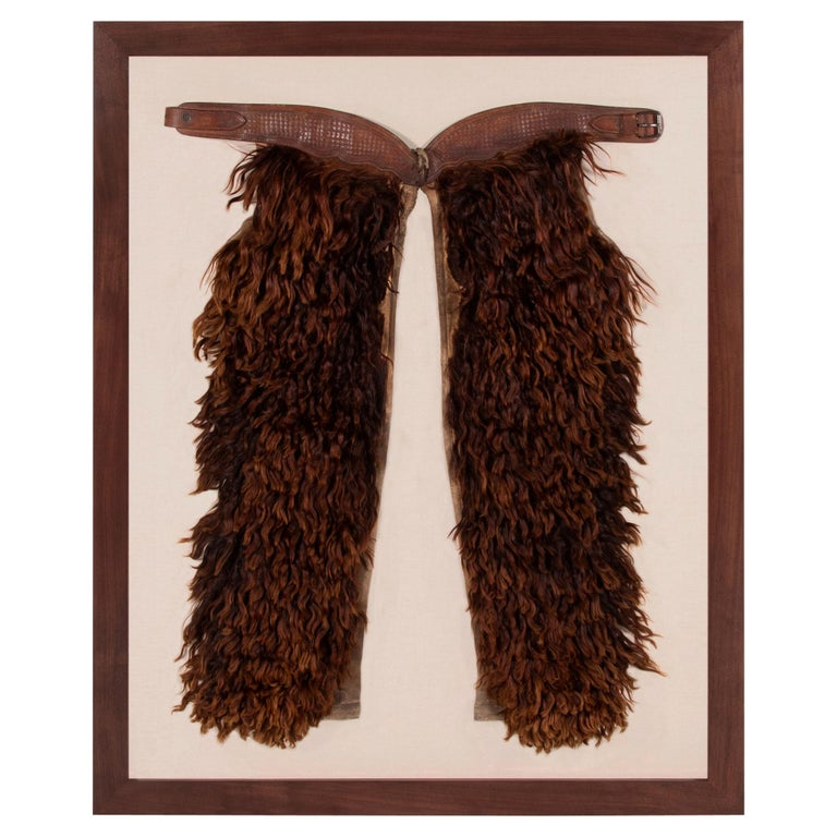 Wooly, Angora Chaps Made by John Clark Saddlery, Portland, Or, CA 1873-1929 For Sale