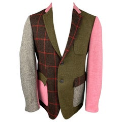 WOOSTER + LARDINI Size 40 Multi-Color Patchwork Wool Sport Coat