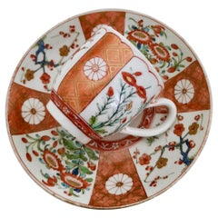 Worcester Coffee Cup, James Giles Old Scarlet Japan, George III, circa 1770