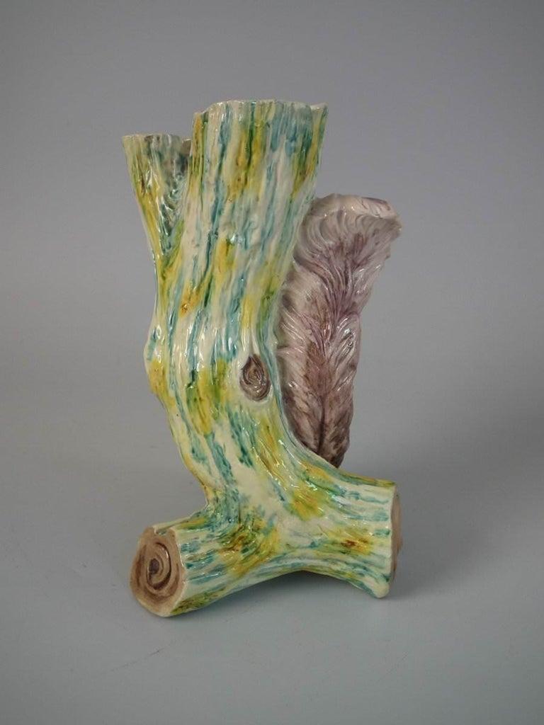 English Worcester Majolica Squirrel Figural Vase For Sale
