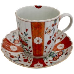 Worcester Porcelain Coffee Cup, Giles Old Scarlet Japan, 18th Century circa 1770
