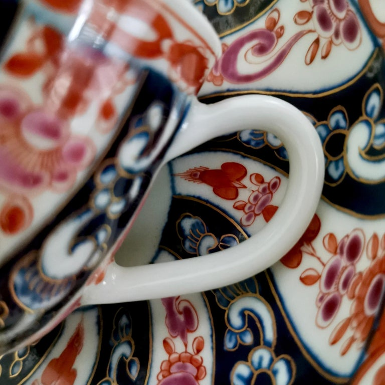 Worcester Porcelain Coffee Cup, Queen Charlotte Pattern, George III, circa 1770 For Sale 5
