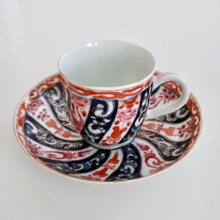 English Worcester Porcelain Coffee Cup, Queen Charlotte Pattern, George III, circa 1770 For Sale
