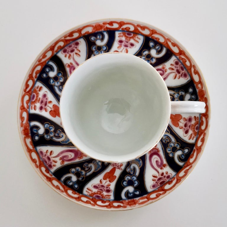 Worcester Porcelain Coffee Cup, Queen Charlotte Pattern, George III, circa 1770 In Good Condition For Sale In London, GB