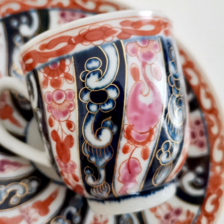 Worcester Porcelain Coffee Cup, Queen Charlotte Pattern, George III, circa 1770 For Sale 2