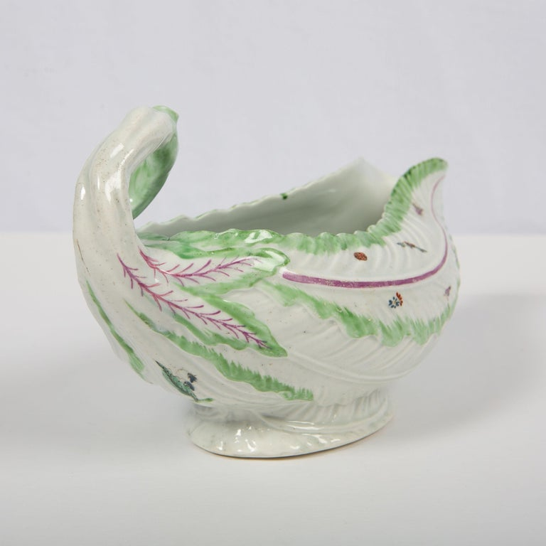 Worcester Porcelain Sauceboat, Made in England, 18th Century For Sale 7
