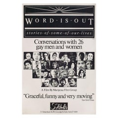 Word Is Out 1977 British Double Crown Film Poster