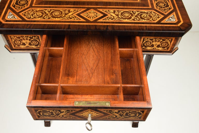 Work Table, Florentine Cabinetry, circa 1850 For Sale 5
