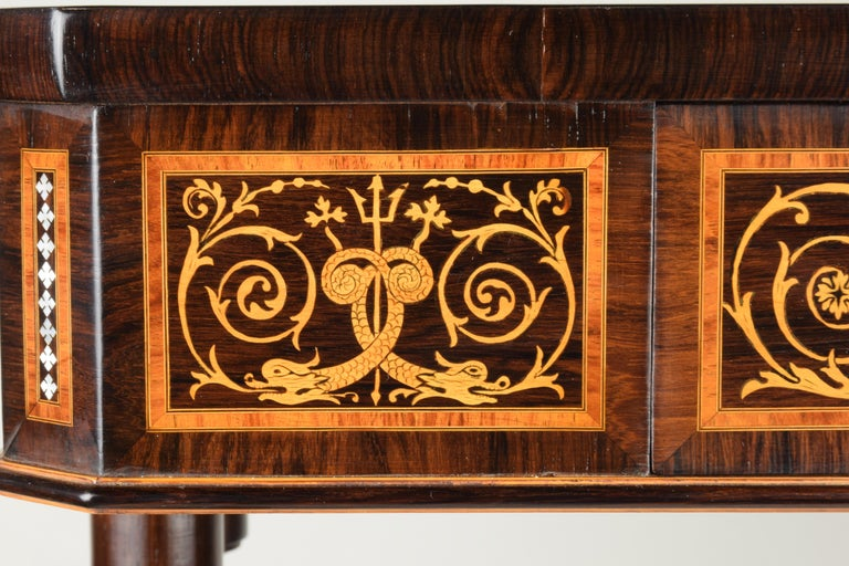 Work Table, Florentine Cabinetry, circa 1850 For Sale 6