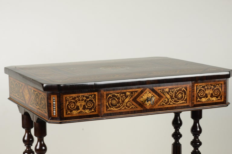 Other Work Table, Florentine Cabinetry, circa 1850 For Sale