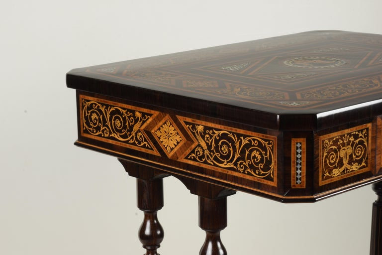 Italian Work Table, Florentine Cabinetry, circa 1850 For Sale