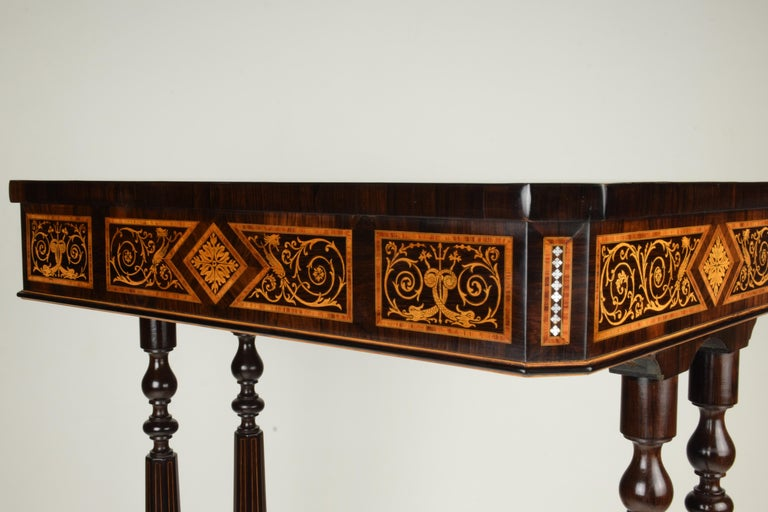 19th Century Work Table, Florentine Cabinetry, circa 1850 For Sale