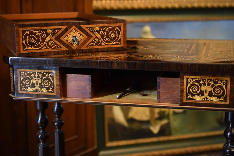 Work Table, Florentine Cabinetry, circa 1850 For Sale 11