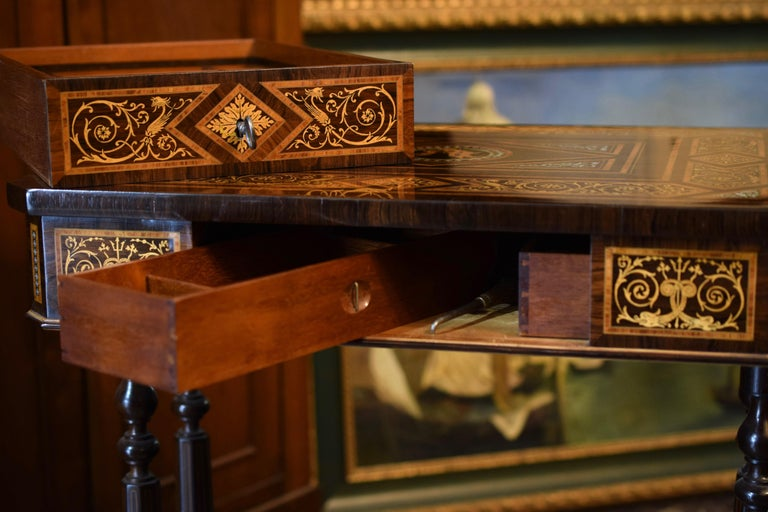 Work Table, Florentine Cabinetry, circa 1850 For Sale 12