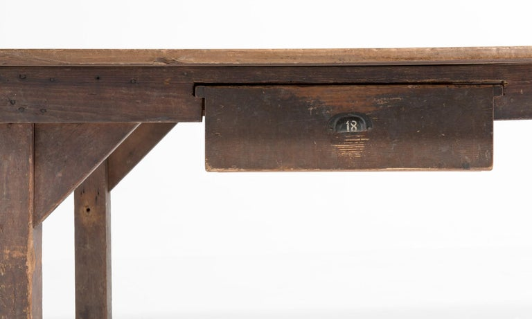 Spanish Work Table with Drawers Spain, 20th Century For Sale