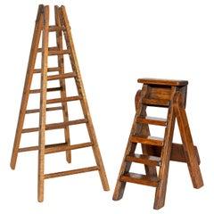 Working Antique Folding Ladder Salesman Samples
