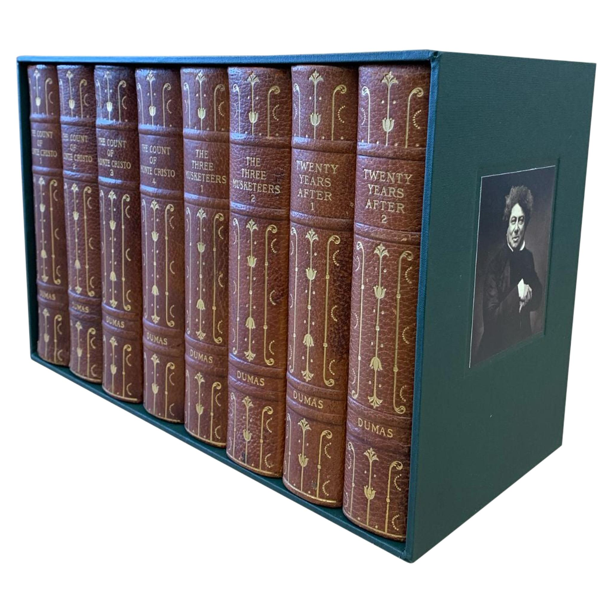 Works of Alexandre Dumas with Author's Handwritten and Signed Note, 8-Vols