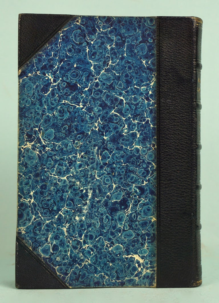 Works of F. Crawford in 5 Volumes Bound in Blue Morocco Leather with Gilt Spines For Sale 1