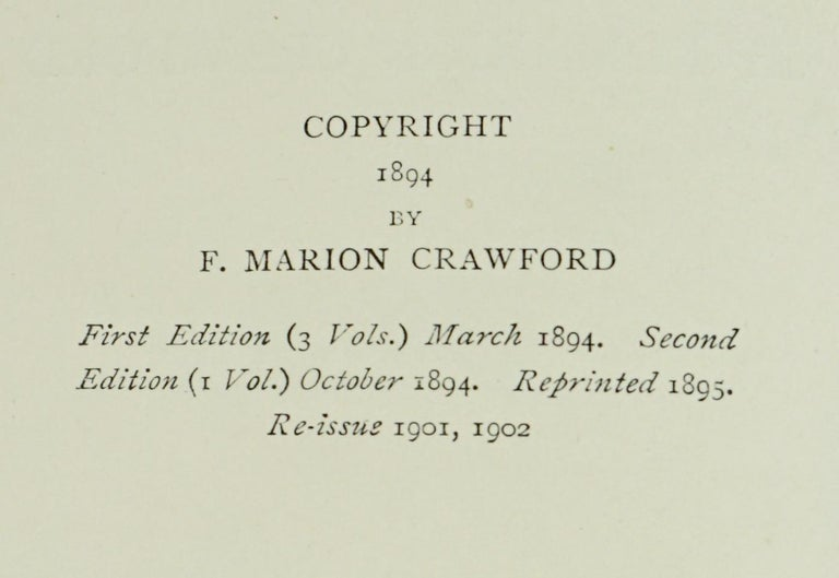 Works of F. Crawford in 5 Volumes Bound in Blue Morocco Leather with Gilt Spines For Sale 4