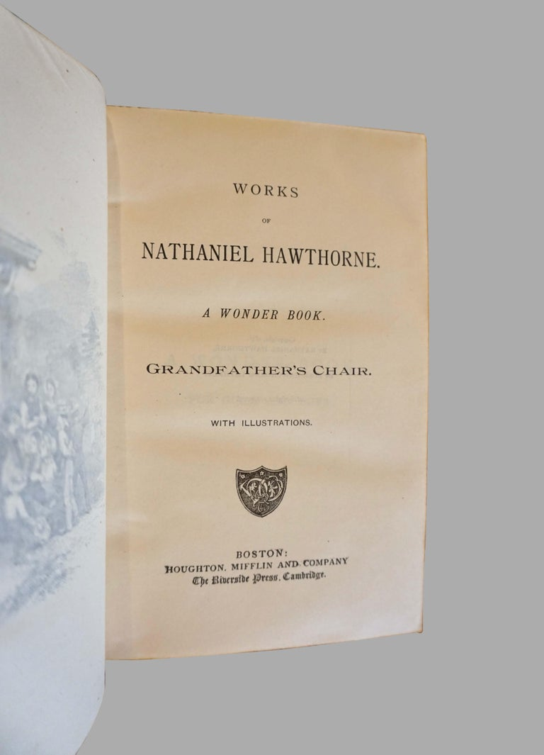 Works of Hawthorne in 10 Illustrated Gilt-Tooled Leather Bound Volumes  For Sale 1