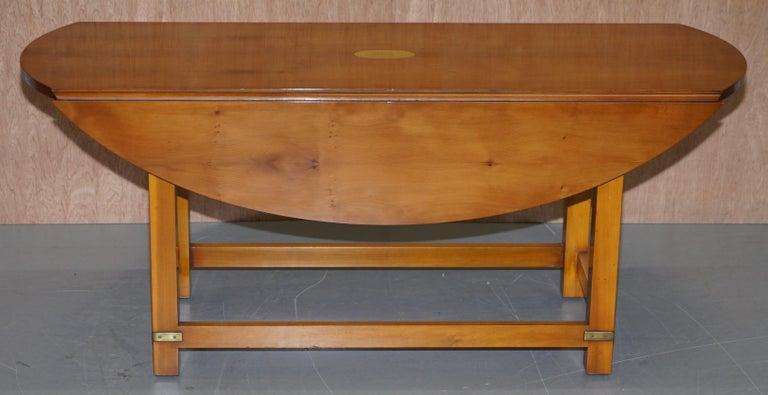 Workshop NUOVO Bevan Funnell in legno Yew Burr che si estende OVALE Campagna Tavolino
