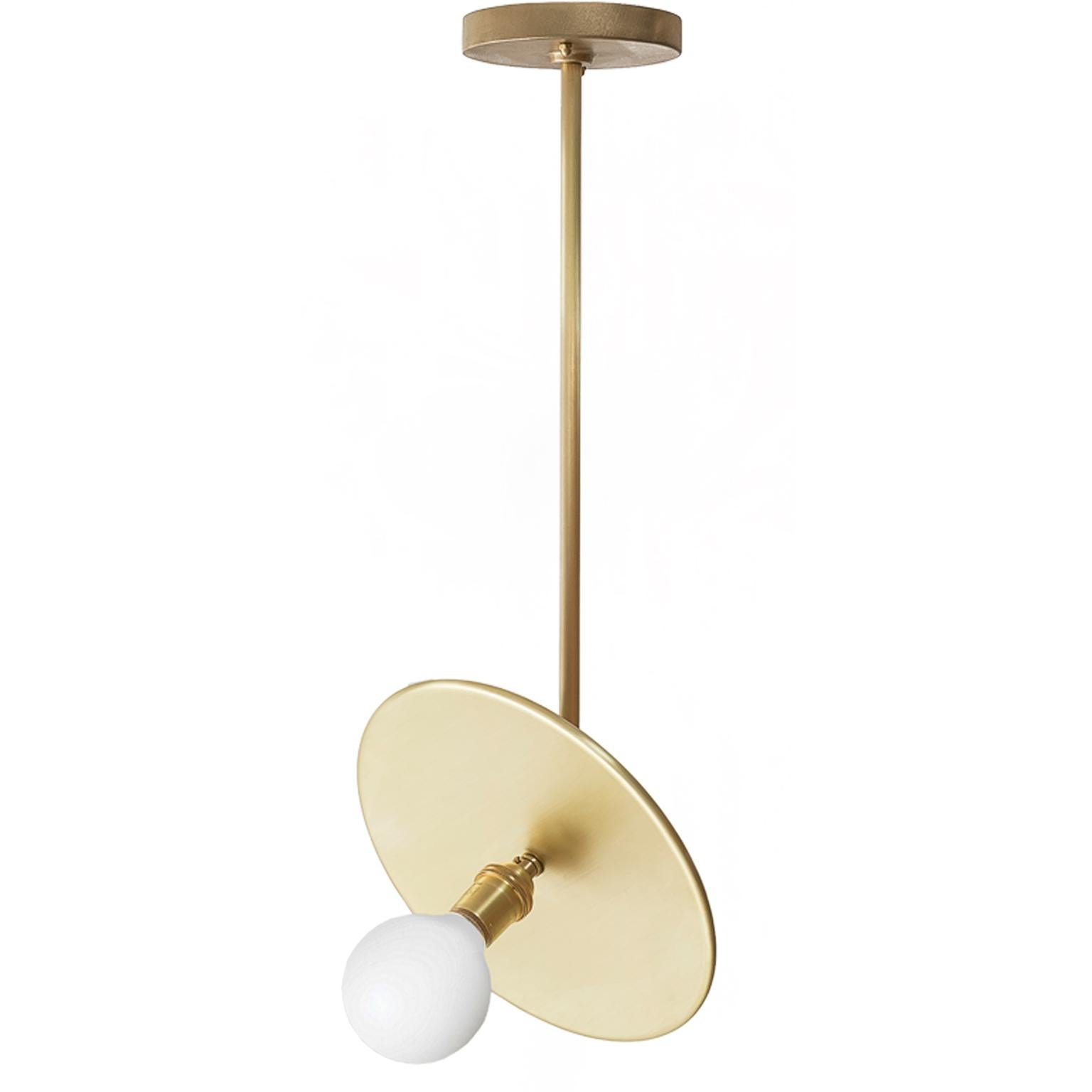 Workstead Brass Pendant with Adjustable Reflector