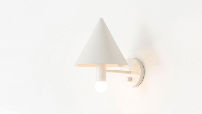 American Classical Workstead Canopy Sconce in White Enamel For Sale