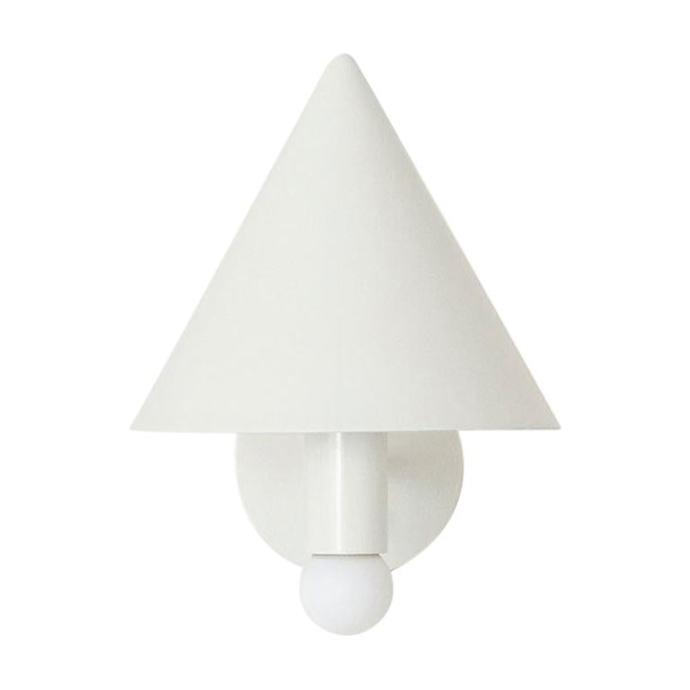 Workstead Canopy Sconce in White Enamel For Sale