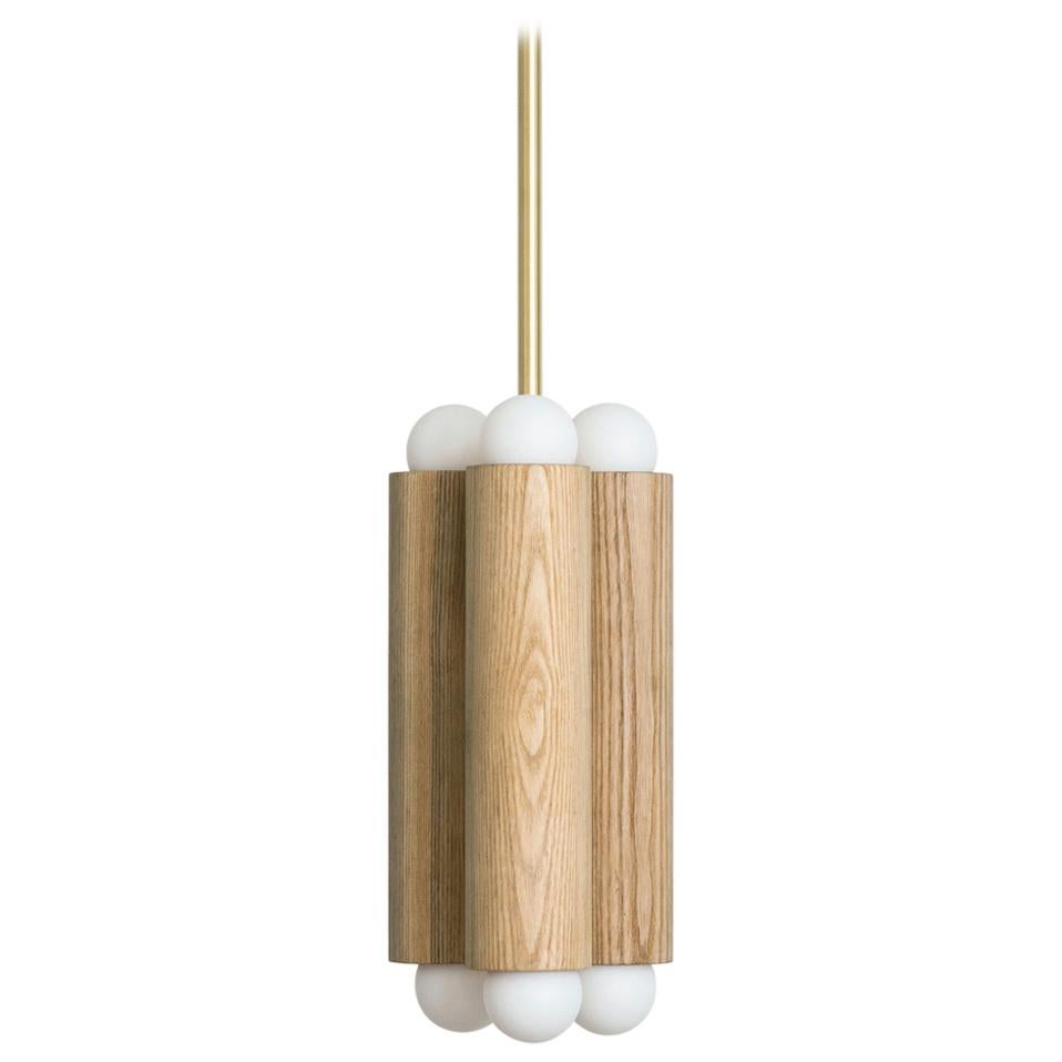 Workstead Column Pendant Small in Natural Oak