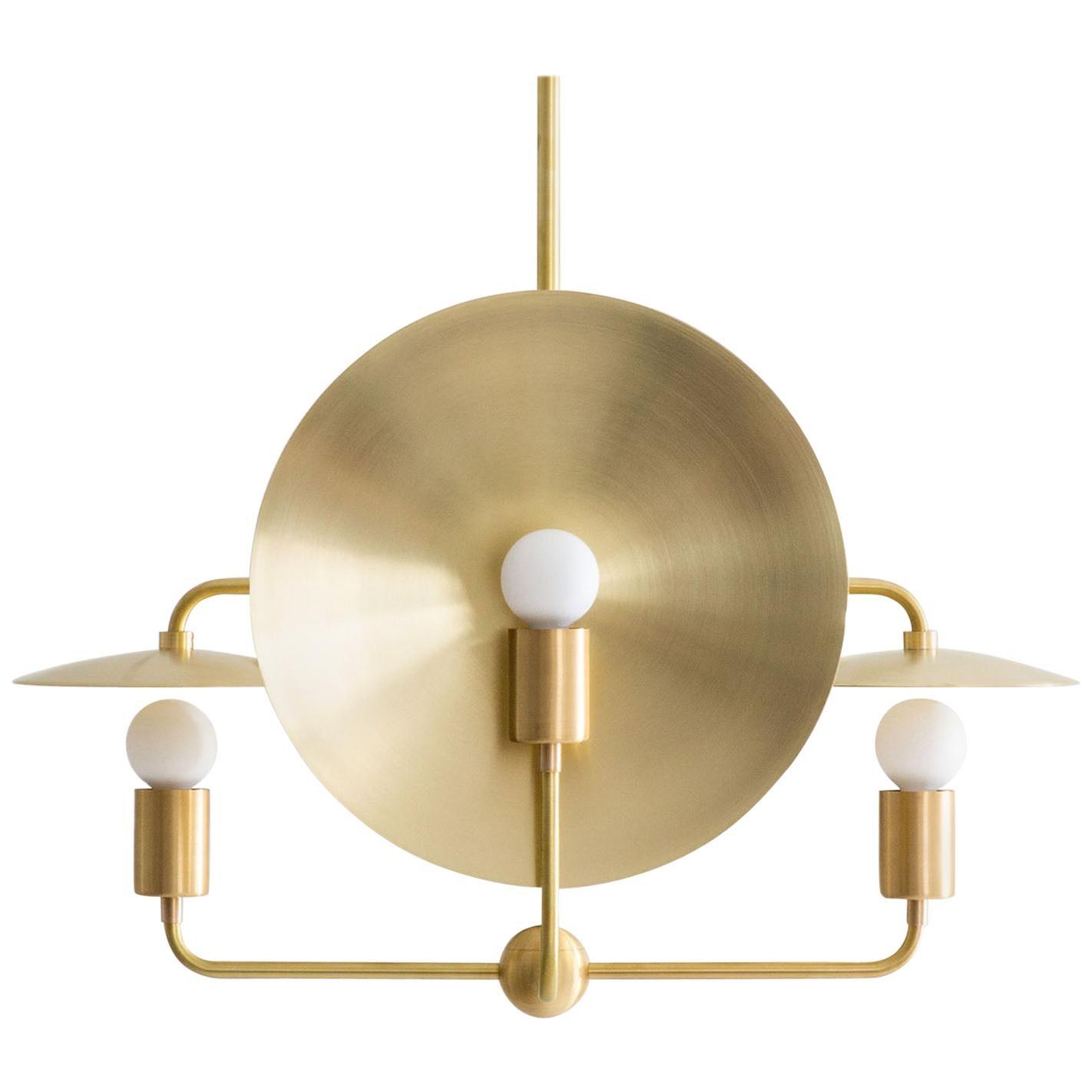 Workstead Orbit Chandelier Hewn Brass