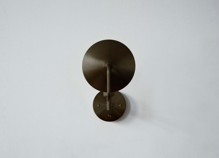 American Workstead Orbit Sconce in Hand Finished Bronze For Sale