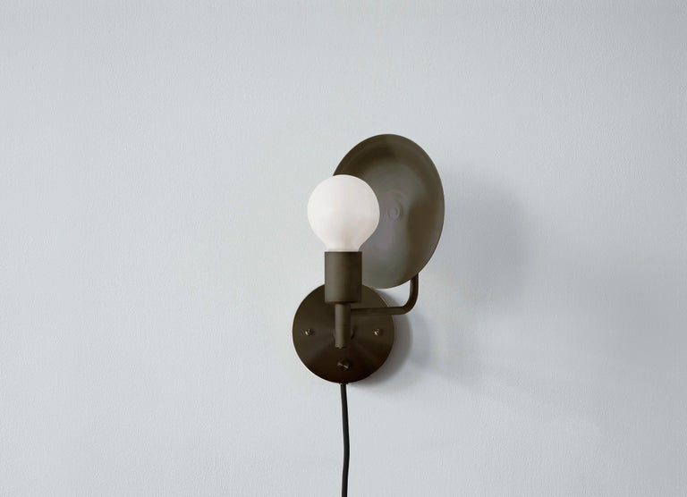Workstead Orbit Sconce in Hand Finished Bronze In New Condition For Sale In Hudson, NY