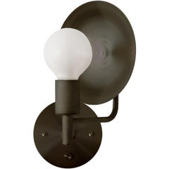 Workstead Orbit Sconce with Spun Bronze Swivel and Convex Reflector
